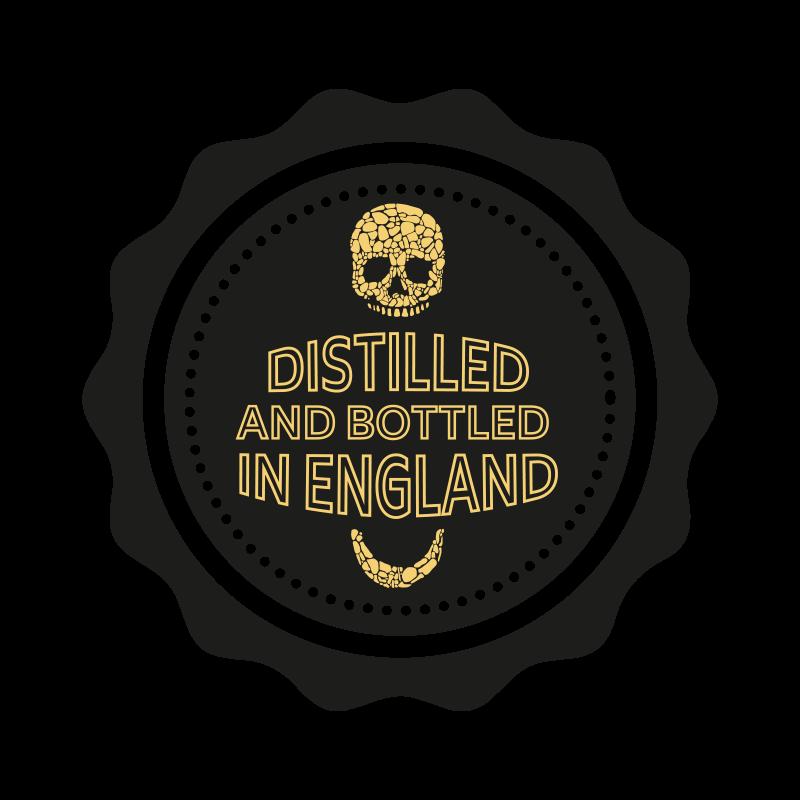 Distilled and bottled in England
